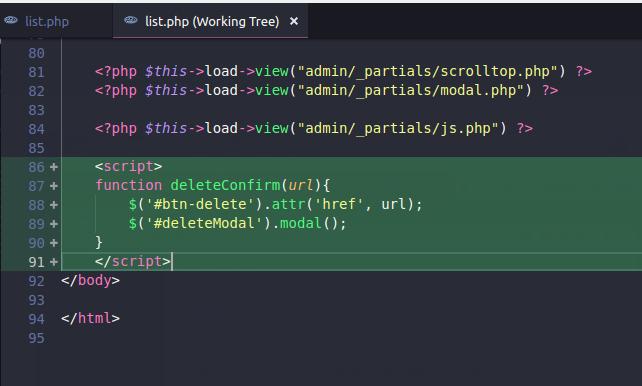 Menambahkan fungsi javascript pada codeigniter