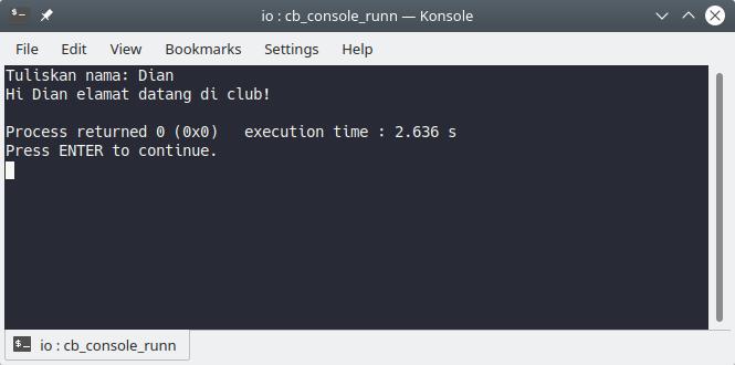 Program input di C++