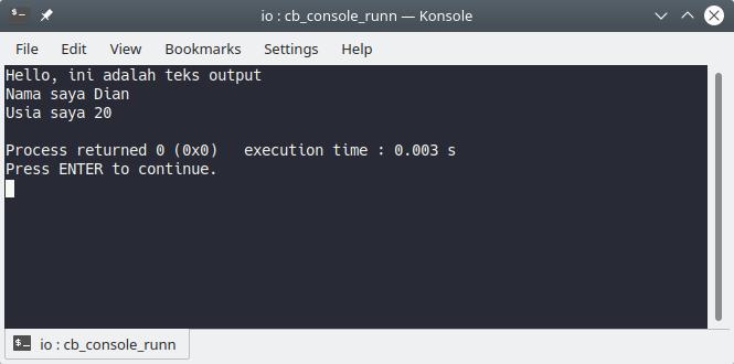 Output program C++