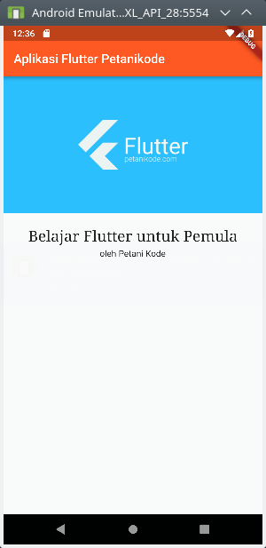 Layout Colum di Flutter