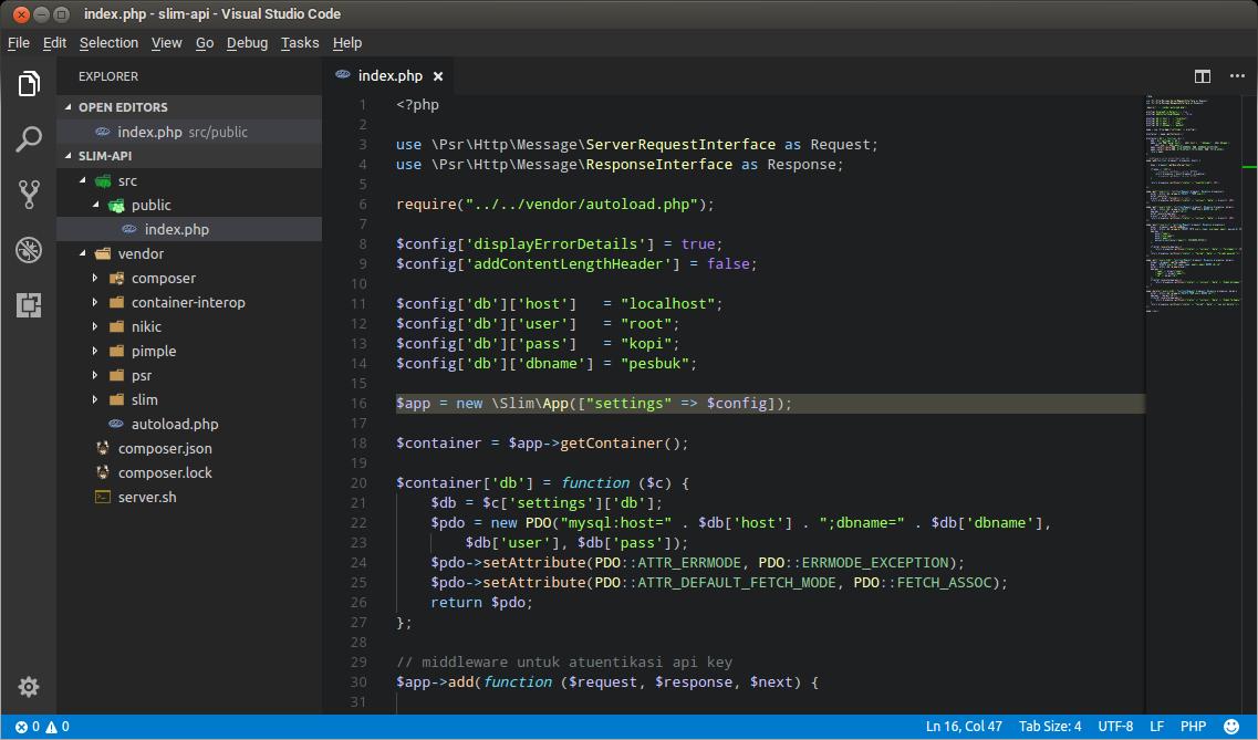 Project Rest API menggunakan Slim Framework
