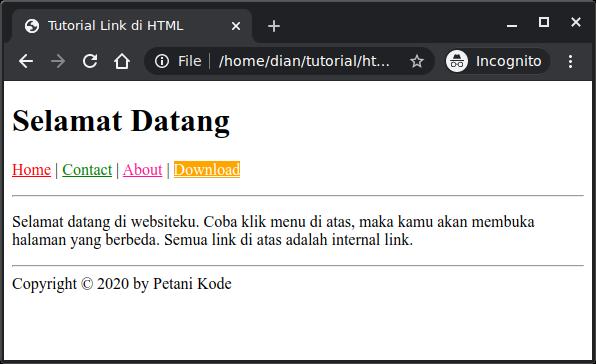 Belajar HTML #07: Cara Membuat Link untuk Menghubungkan ...