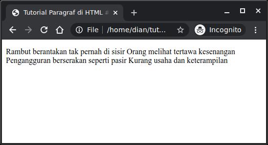 Menampilkan pantun di HTML