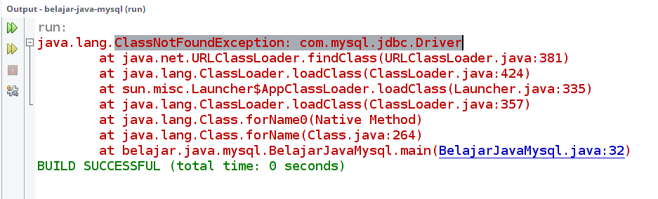 ClassNotFoundException: com.mysql.jdbc.Driver