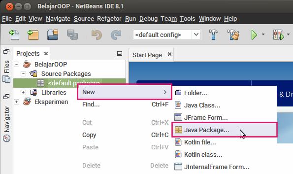 Membuat package Java