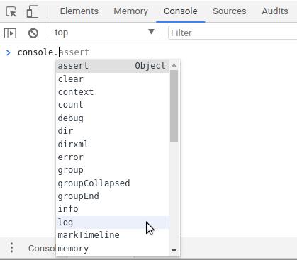 Fungsi-fungsi dalam console