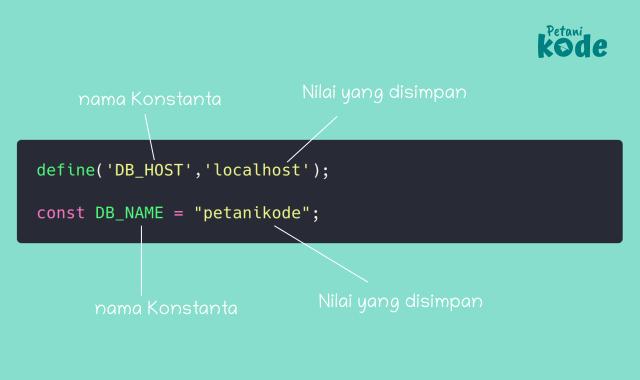 Cara membuat konstanta di PHP