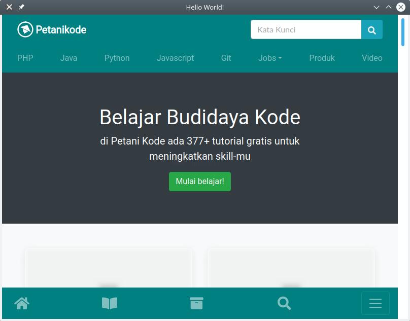 Contoh aplikasi WebView