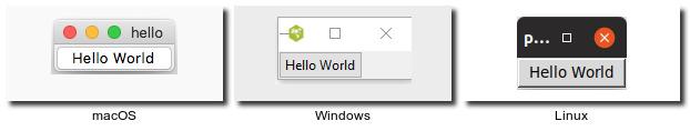 Aplikasi Hello world dengan Tkinter